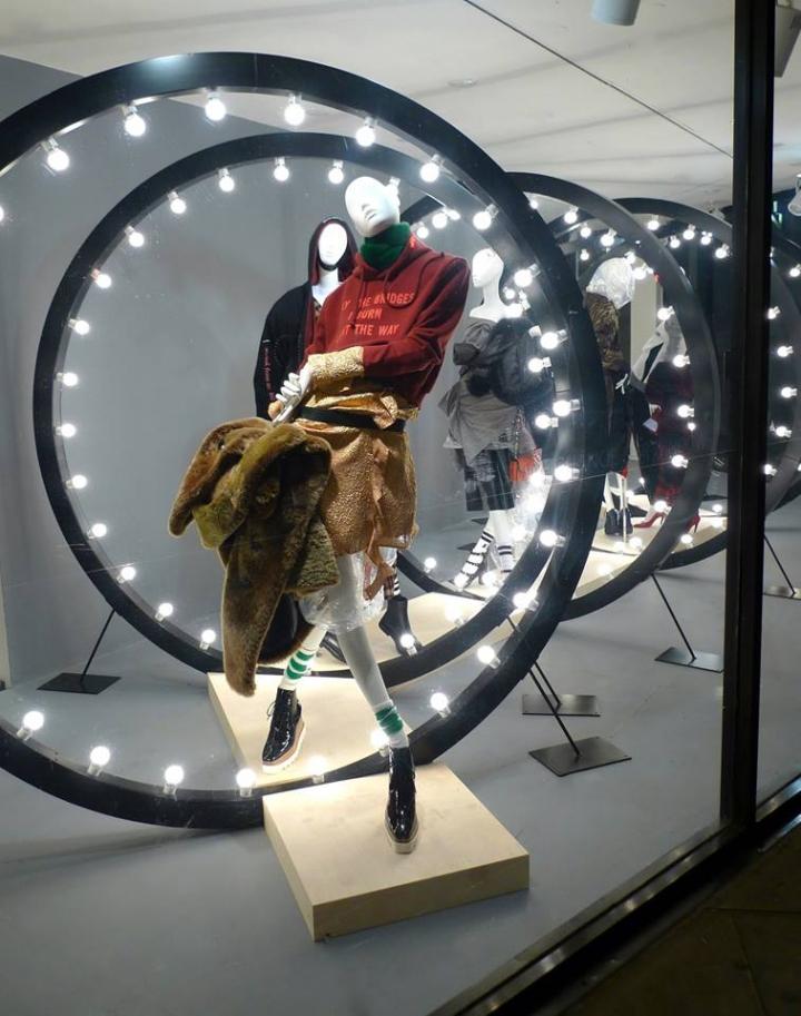Joseph Fashion window display with Atrezzo mannequins