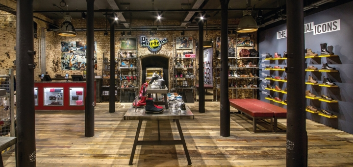 Dr. Martens industrial design store by Closed Sundays