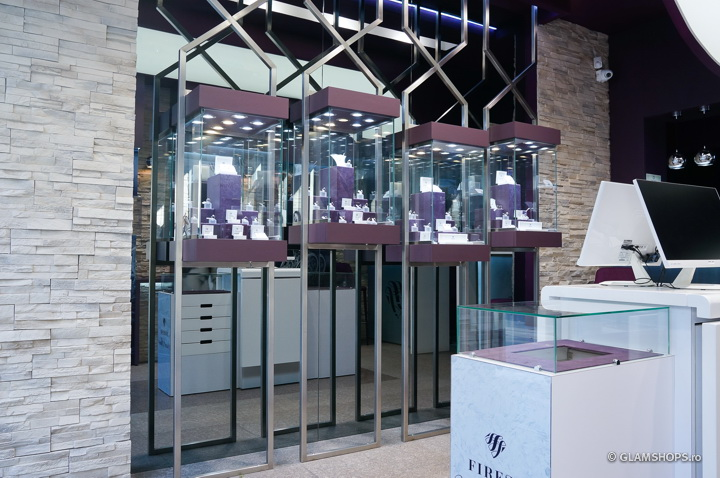 Firesq Jewellery boutique in Bucharest by Glamshops