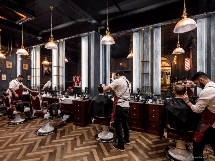 Jack The Clipper flagship barbershop on Bow Lane London by FormRoom