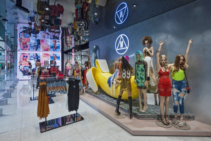 Missguided store in UK by Dalziel & Pow