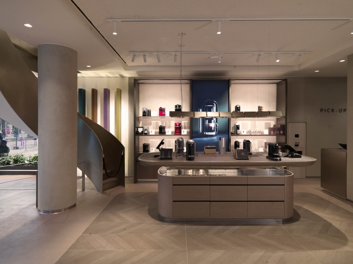 Nespresso's new concept boutique in Cannes by Universal Design Studio