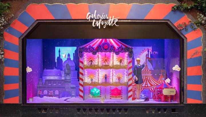 Galeries Lafayette Christmas window 2017