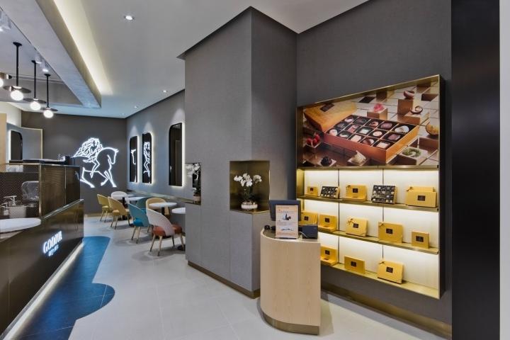 Godiva chocolate brand openes a store in Hong Kong