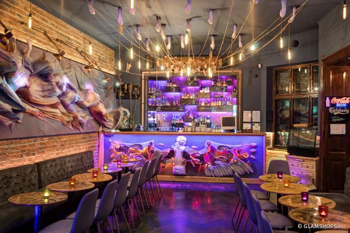 Q Caffe steampunk interior concept by 6th Sense Interiors
