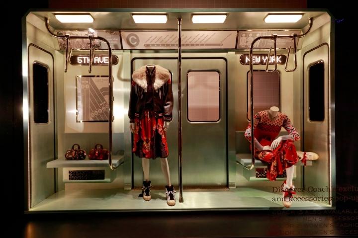 Subway window display for Coach