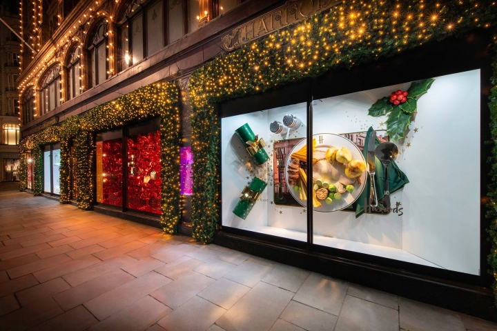 Christmas window at Harrods 2018