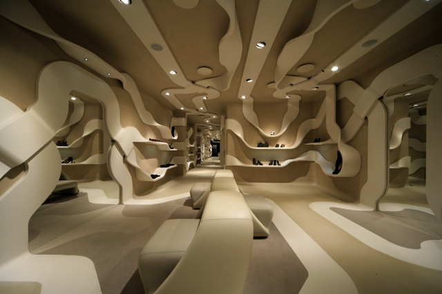 Stuart Weitzman innovative show Store design in Calgary